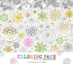 christmas coloring snowflakes printable digital art