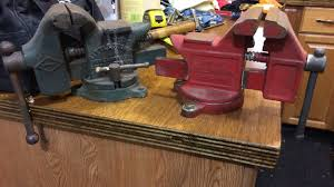 installing a bench vice in the garage shop youtube
