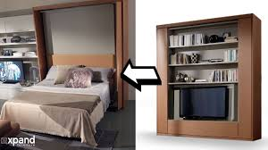 amore revolving tv murphy bed demo expand furniture youtube