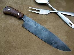 high carbon steel kitchen knives carbon steel chef knife kitchen knives neilsons mountain hollow