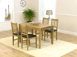 Dining Table  Solid Oak Extending Dining Table And  Leather - Light oak kitchen table
