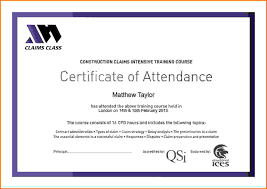 certificate of attendance templatereference letters words ideas