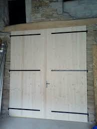 Pine Barn Door by Carpentry Menuiserie Sivignons 71