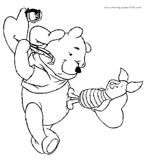 winnie the pooh valentines day s day color page coloring pages for kids