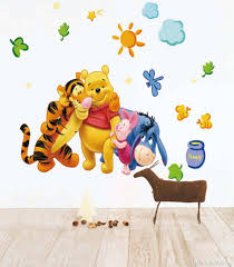 cheap winnie the pooh wall decals find winnie the pooh wall get quotations cartoon wall paper bedroom wall art sticker decals vinyl home murals winnie the pooh
