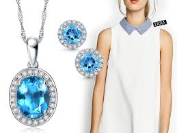 natural topaz necklace images Exude class with blue topaz blue topaz jewelry to clothes jpg