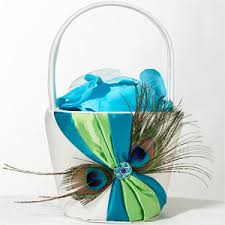 peacock wedding favors peacock feather flower basket peacock wedding favors and