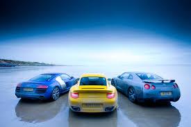 nissan gtr porsche 911 turbo v nissan gt r v audi r8 v10 evo