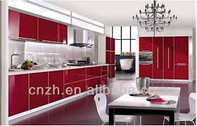China Kitchen Cabinet by High Glossy Used Vinyl Wrap Pvc Kitchen Cabinet Doors Factory