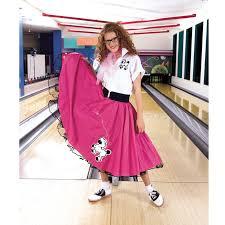 complete poodle skirt pink u0026 white costume