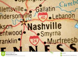 Tennessee Road Map by Map Of Nashville Tennessee Royalty Free Stock Photos Image 5033698