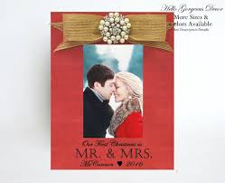 first christmas married gift to husband wife picture frame for