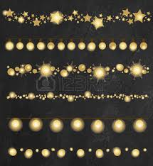festive garland lights and lanterns vector set royalty