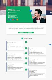 Best Resume Samples For Software Engineers by 15 Best Html Resume Templates For Awesome Personal Sites