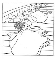 cinderella wedding dress coloring color sheets wedding