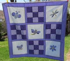 Dragonfly Nursery Decor Baby Quilt Homemade Baby Quilt Patchwork Quilt
