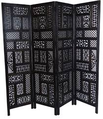 Jali Design 4 Panel Heavy Duty Indian Screen Wooden Screen Divider Circle Jali