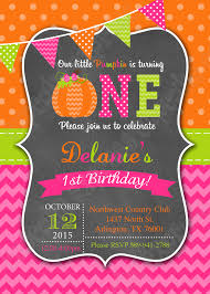 pumpkin patch first birthday party invitation printable 1st