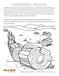 arizona state fossil coloring page