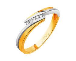 apart pierscionki pierścionek z żółtego złota z brylantami wzór 101 171 apart