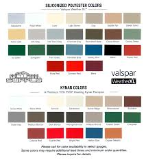 Berridge Metal Roof Colors by Kynar Metal Roof Color Chart
