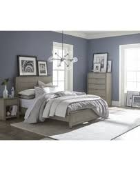 Grey Bed Frame Tribeca Grey Bed Created For Macy S Furniture Macy S