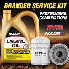 ryco oil filter 5l sem5w30 oil service kit for hyundai accent rb