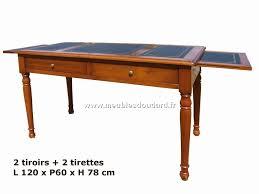 bureau tiroirs table bureau à tiroirs en merisier réf dh 080