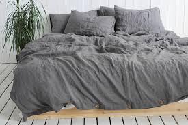 Organic Duvet Cover King Organic Duvet Cover Dark Gray Natural 100 Linen Duvet Cover