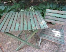 Antique Wooden Garden Benches For Sale by Table And Chairs Etsy