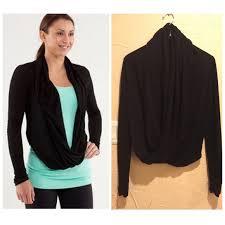 wrap sweater top 48 lululemon athletica tops lululemon black iconic wrap