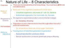 nature of life u2013 8 characteristics ppt video online download