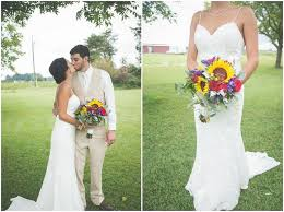 Rustic Barn Wedding Dresses Terilyn And Eric U0027s Sunflower Filled Rustic Barn Wedding By Will