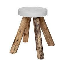teak wood side table vintage side table teak wood concrete stone round wood coffee table