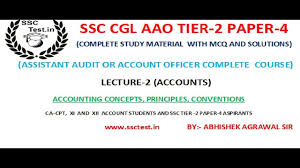 ssc cgl aao study material accounting basic concept assistant