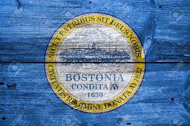 Massachusetts Flag Flag Of Boston Massachusetts Painted On Old Wood Plank