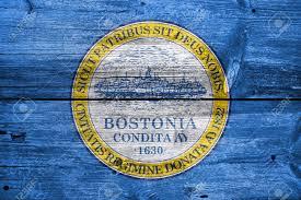 Flag Of Massachusetts Flag Of Boston Massachusetts Painted On Old Wood Plank