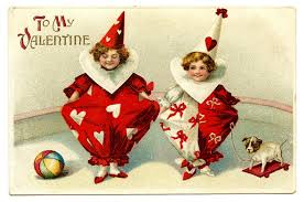 vintage valentines vintage s day clip adorable clown children the