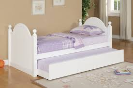 Twin Bed Frame With Trundle Pop Up Kids Day Bed Plastered Walls Create A Neutral Backdrop As Decor