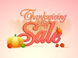 sale poster banner or flyer for thanksgiving day celebration