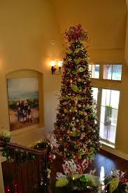 tall slim christmas trees christmas lights decoration