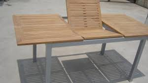 teak patio table with leaf expandable outdoor dining table brilliant fascinating extendable