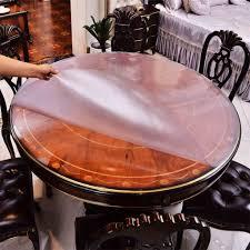 tableau verre transparent pour ecrire table ronde nappe waterproof pvc scrub soft verre transparent