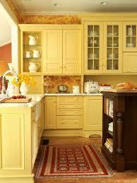 Light Yellow Kitchen Cabinets Yellow Kitchen Cabinets So Bright Pretty Cottage Kitchen