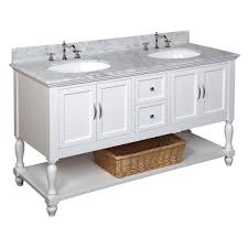 46 Inch Wide Bathroom Vanity by Beverly 60 Inch Double Carrara White U2013 Kitchenbathcollection