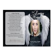 Programs For Funeral Services Angel Single Fold Memorial Program Funeral Pamphlets