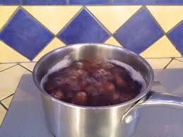 cuisson des châtaignes et des marrons