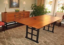 hand crafted curly cherry dining table and sideboard by go figured