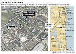Atlantic City Map Atlantic City Walk Shooter From Somers Point Victim From Absecon