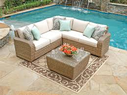 outdoor patio furniture clearance or light brown and white rectangle